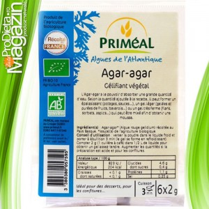 Agar agar gelifiant natural dietetic